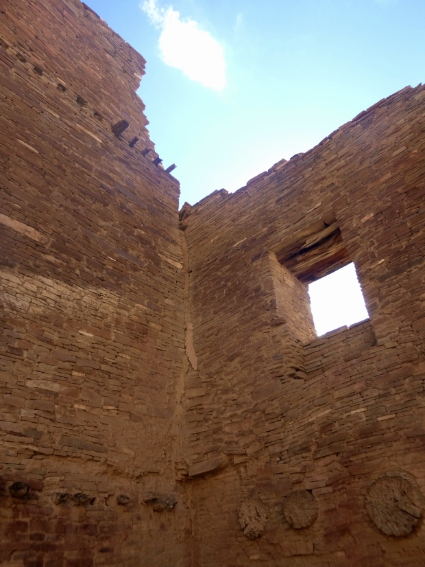 Inside multi-story room block of Pueblo Bonito, ca. 850 - 1140 AD, Chaco Canyon National Historical Park, New Mexico