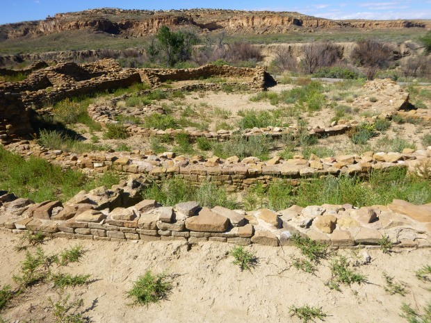 Tri wall kiva at Pueblo del Arroyo, ca. 1075 - 1110 AD, Chaco Canyon National Historical Park, New Mexico