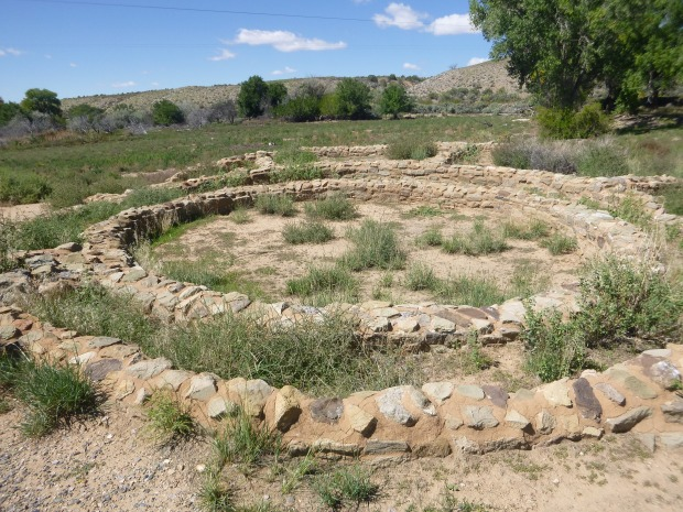 Backfilled tri-wall kiva, 1080 - 1130 AD, Aztec Ruins, New Mexico