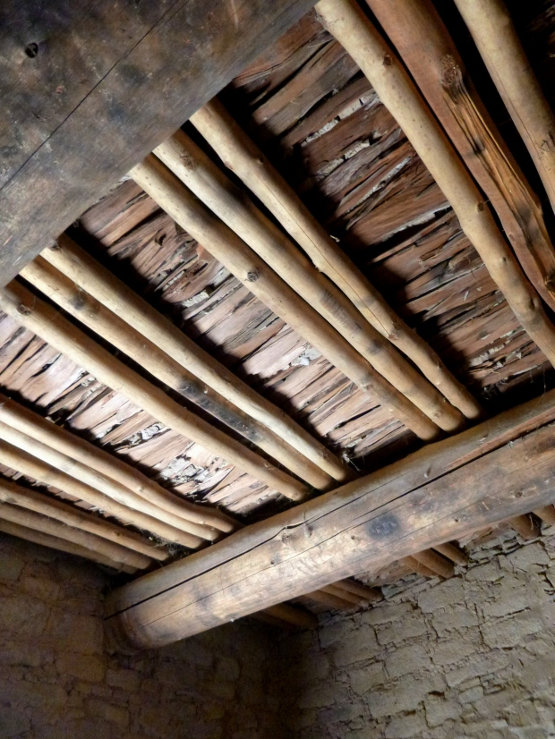 Original roof construction, ca. 1080 - 1130 AD, Aztec Ruins, New Mexico