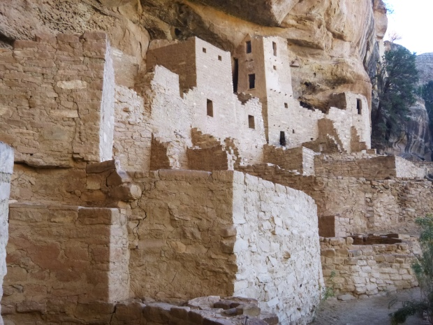 Closer view of right side of alcove, Cliff Palace, 1190 - 1260 AD, Mesa Verde National Park, Colorado
