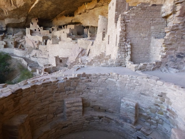 View of left side of alcove, Cliff Palace, 1190 - 1260 AD, Mesa Verde National Park, Colorado