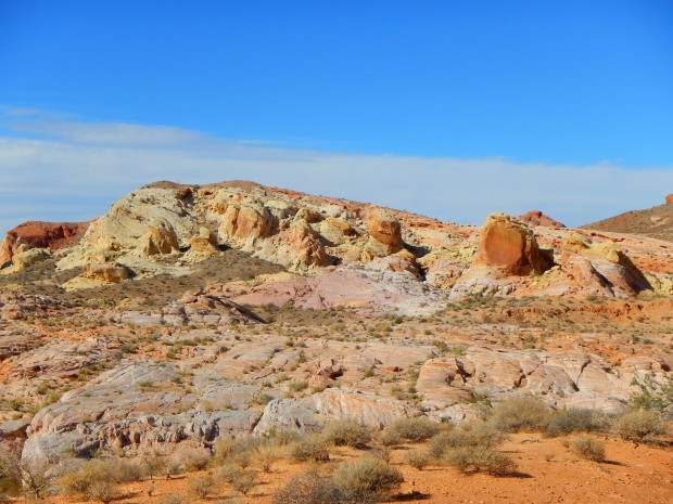 Close up view of pastel rock, Valley of Fire State Park, Nevada