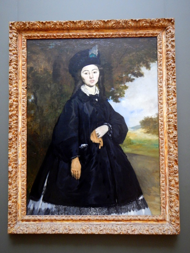 Portrait of Madame Brunet, Edouard Manet, 1860-63 with reworking in 1867
