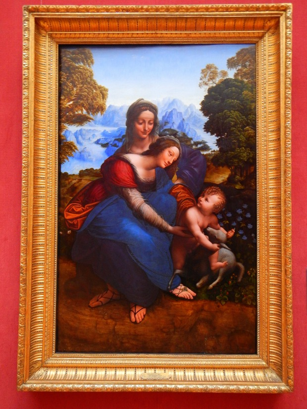 Madonna and Child with Saint Anne in a Landscape, Workshop of Leonardo da Vinci, between 1508-1513