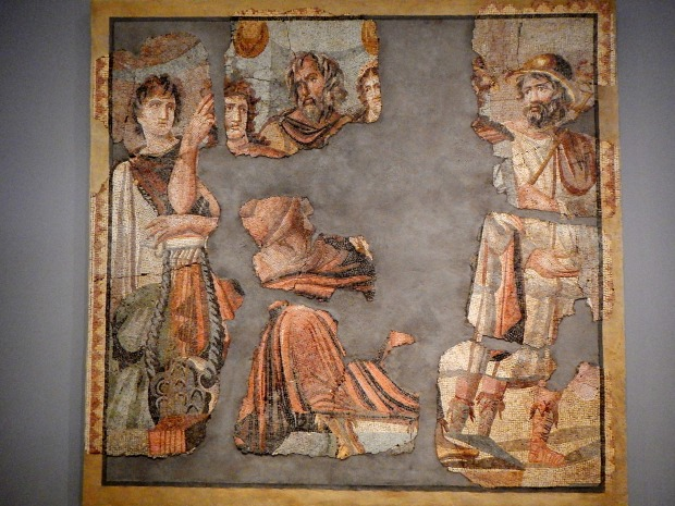 Mosaic of the Removal of Briseis, Roman 2nd C. AD