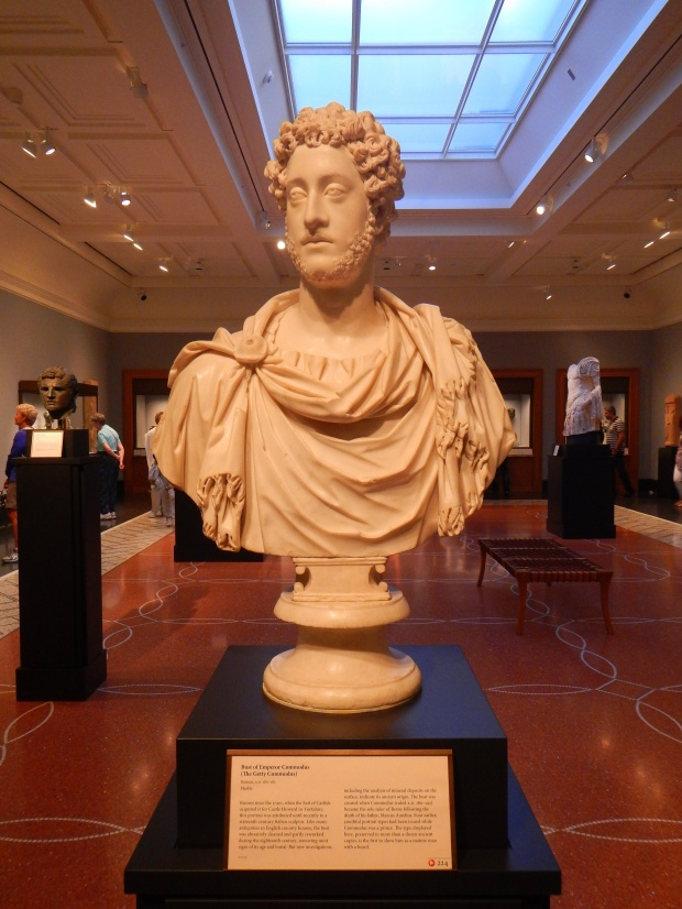 Bust of the Emperor Commodus, Roman AD 180-185, partial reworking in 18th C. England