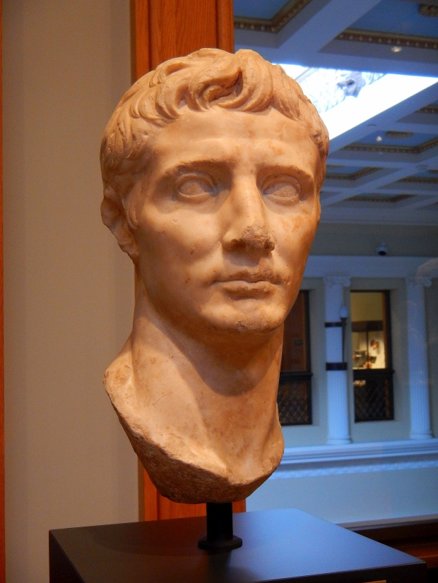 Bust of the Emperor Augustus, Roman BC 25-1