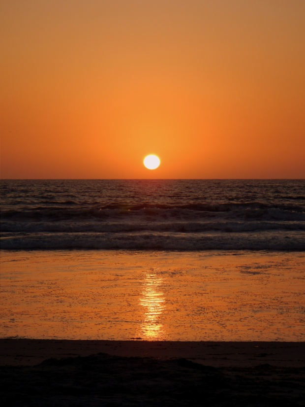Sunset at Mission Beach, San Diego, California