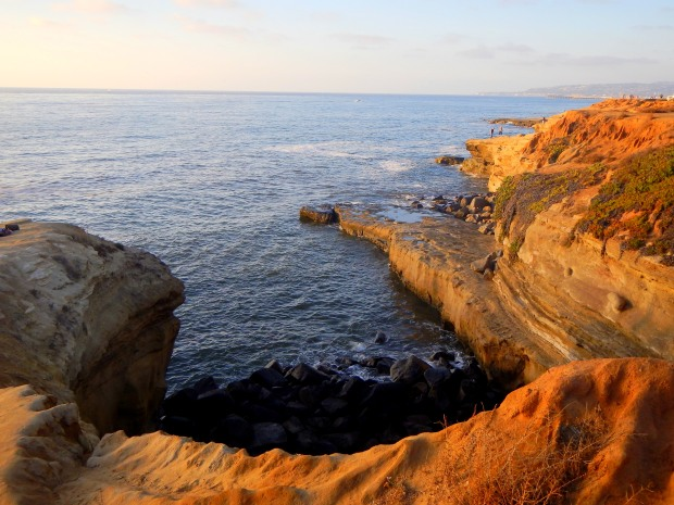 Late afternoon sun at Sunset Cliffs, San Diego, California