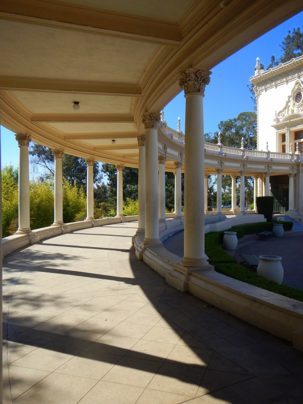 Colonnade of Spreckels Organ, Balboa Park, San Diego, California