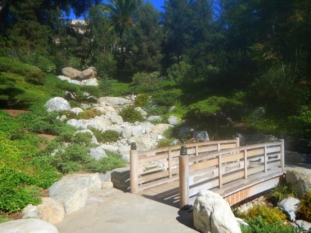 Footbridge in Japanese Friendship Garden, Balboa Park, San Diego, California