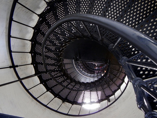 Circular staircase looking down, St. Augustine Lighthouse, Florida