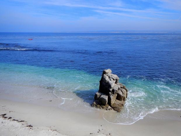Beach near Lovers Point Park, Monterey Bay, California