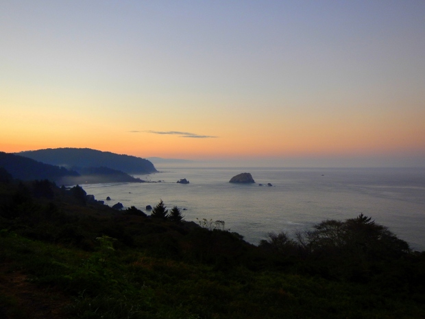 Sunrise from the cliffs, Highway 101, California