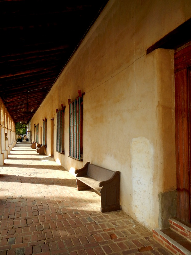 Original arcade, Mission San Miguel Archangel, California