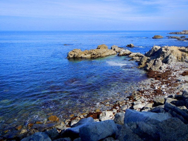Rocky coast of Monterey Bay, California