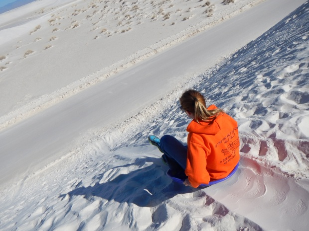 This may look steep, but this is the kind of dune you want! Carrie, White Sands National Monument, New Mexico