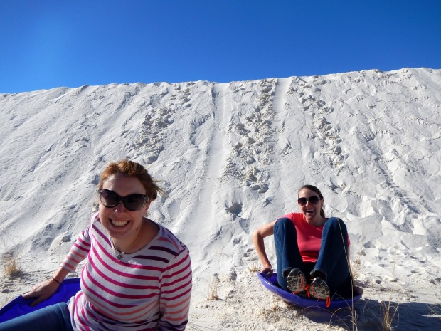 Carrie and Chrissy, White Sands National Monument, New Mexico
