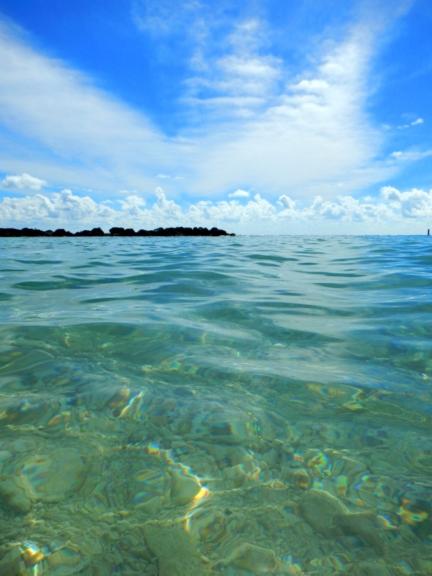 View from beach at Fort Zachary Taylor State Park, Key West, Florida