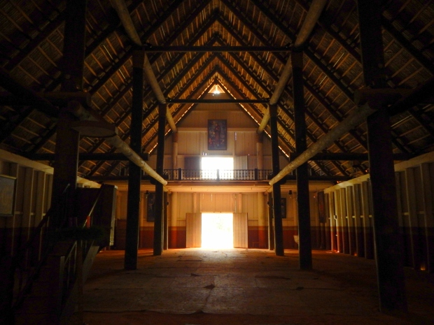 Interior of church, Mission San Luis de Apalachee, Tallahassee, Florida