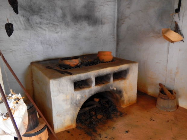 Kitchen – originally the first indoor kitchen in the state of Florida – behind the friary, Mission San Luis de Apalachee, Tallahassee, Florida