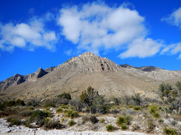 Guadalupe Mountains from Pinery Nature Trail, Guadalupe Mountains National Park, Texas