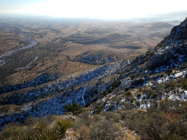 Looking down on the switchbacks, Guadalupe Peak Trail, Guadalupe Mountains National Park, Texas
