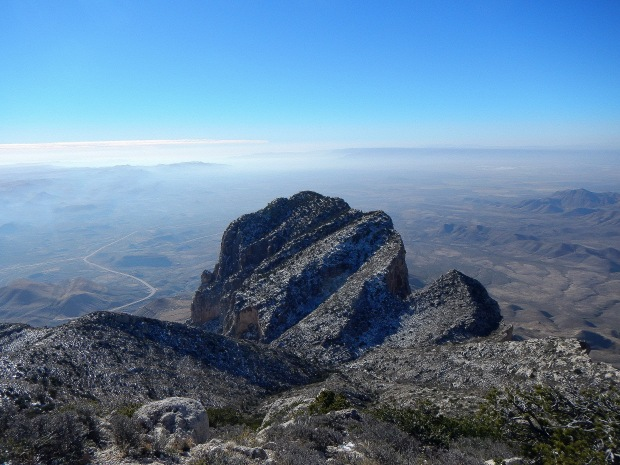 Looking down on El Capitan from near Guadalupe Peak, Guadalupe Mountains National Park, Texas