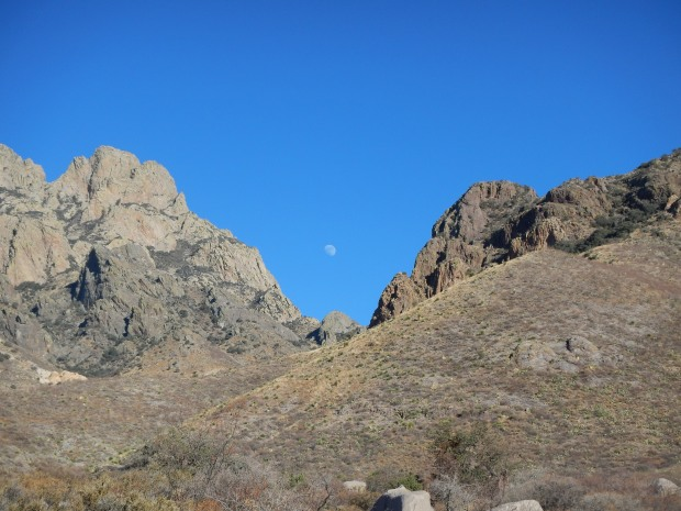Moon rising over the Organ Mountains, Dripping Springs Natural Area, Las Cruces, New Mexico