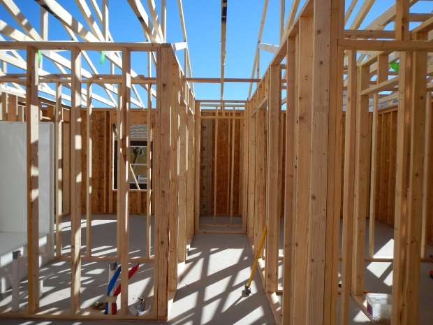 Interior framing work, Habitat for Humanity Build, Las Cruces, New Mexico