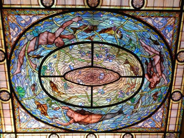 Ceiling of Men's Bath Hall, Fordyce Bathhouse, Hot Springs National Park, Arkansas