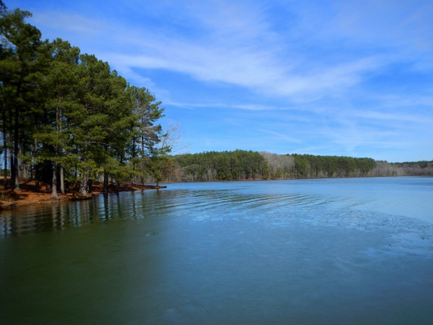 Pin Oak Lake from the dock, Natchez Trace State Park, Tennessee