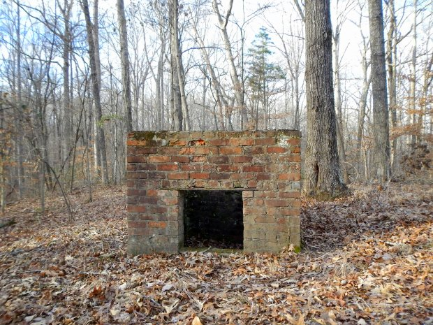 Brick kiln built by the CCC to fire bricks used in the construction of the lodge, Natchez Trace State Park, Tennessee