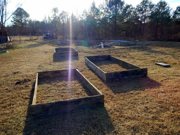 Finished raised beds, Grundy County Community Garden, White City, Tennessee