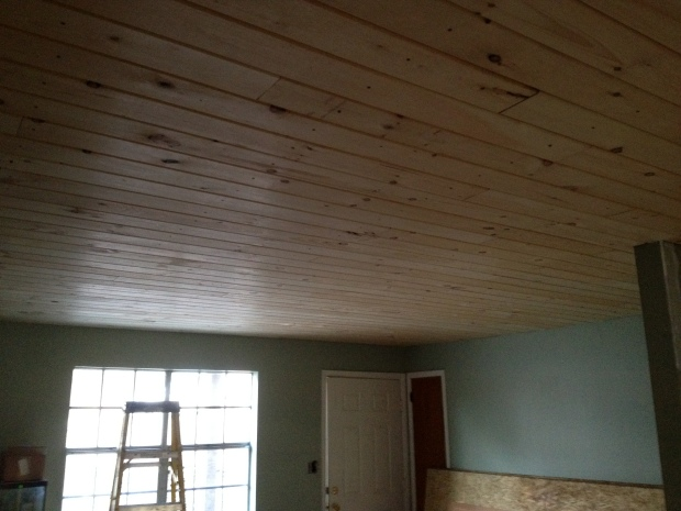 Completed living room ceiling