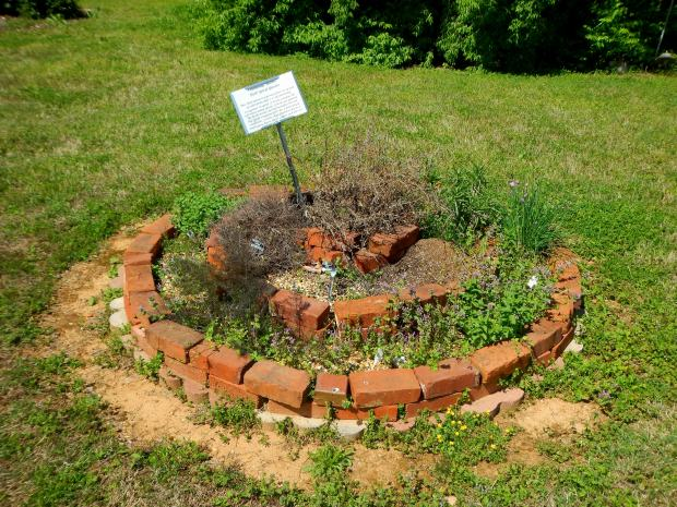 Herb spiral at the teaching garden, Chattanooga Area Food Bank, Chattanooga, Tennessee