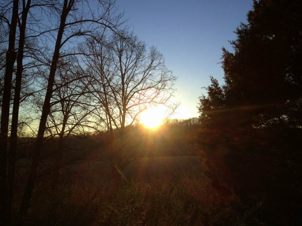 Sunset from the back deck, Jasper, Tennessee