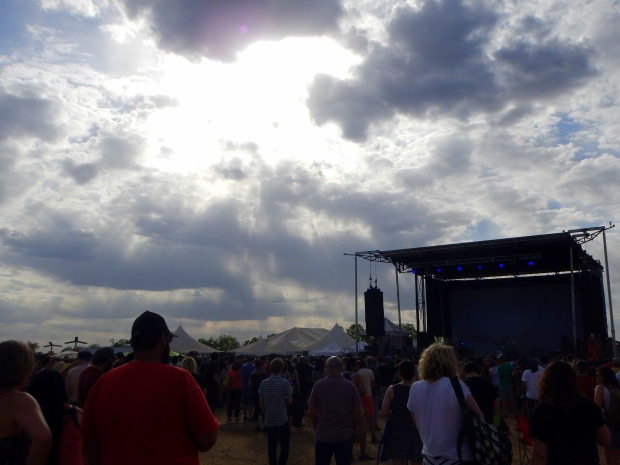 The clouds parting for Swedish band Graveyard, Austin Psych Fest, Austin, Texas