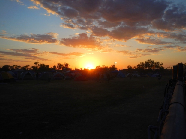 Sunset over the campgrounds, Austin Psych Fest, Austin, Texas