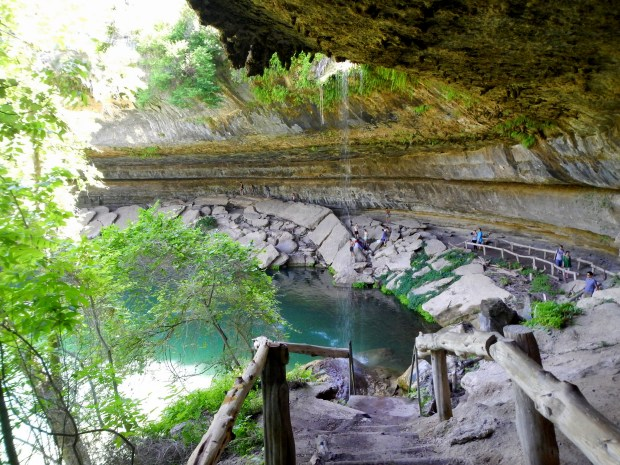 Pathway into the grotto, Hamilton's Pool, Hamilton's Pool Preserve, Texas
