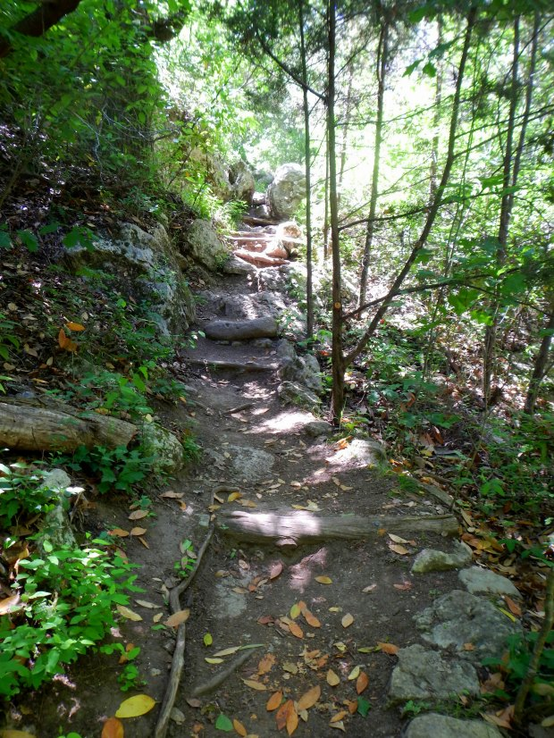 Trail along Hamilton's Creek, Hamilton's Pool Preserve, Texas