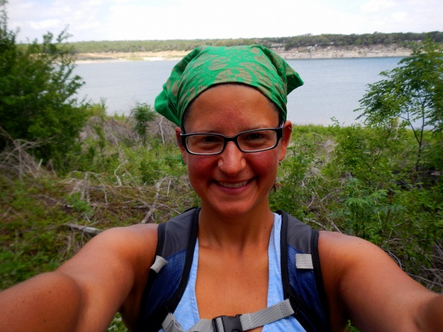 Me on the San Gabriel River Trail, Cedar Breaks Park, Lake Georgetown, Texas