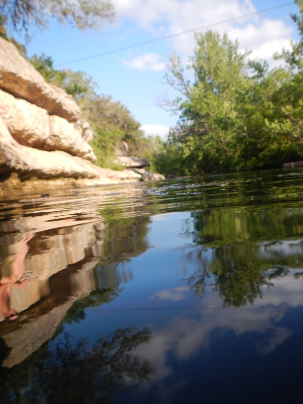 View down Cypress Creek, Jacobs Well, Texas