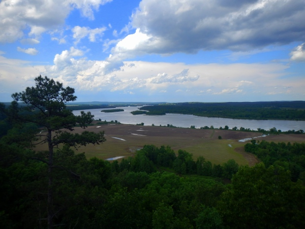 View from overlook on spur from Rocky Valley Trail, Pinnacle Mountain State Park, Arkansas