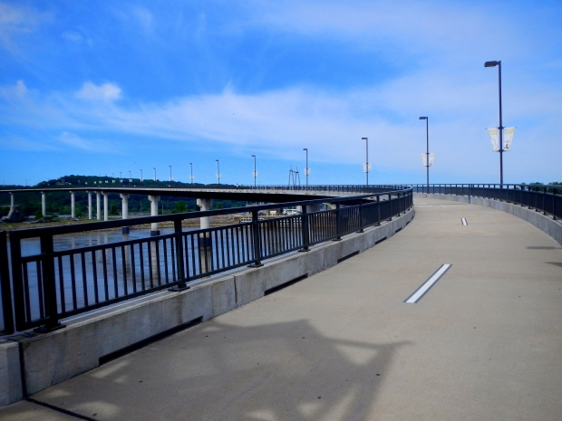 Approach of the biking and walking paths, Big Dam Bridge, Little Rock, Arkansas