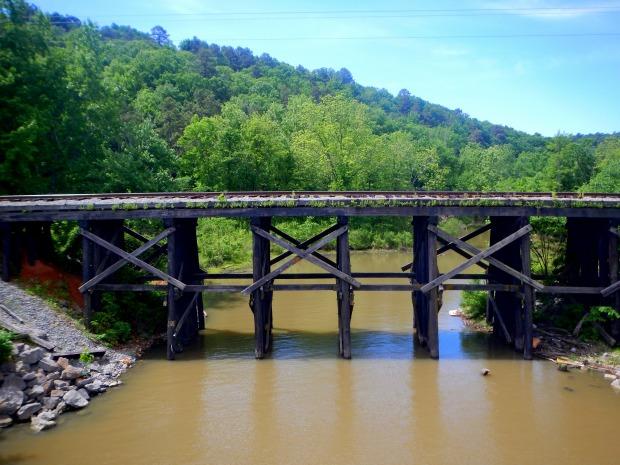 Old Railroad bridge from the Arkansas River Trail, Little Rock, Arkansas