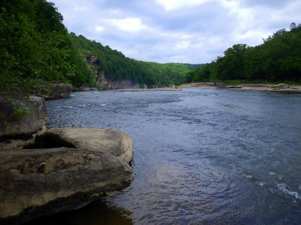 Overlooking Cumberland Falls from Eagle Falls Trail, Cumberland Falls State Park, Kentucky