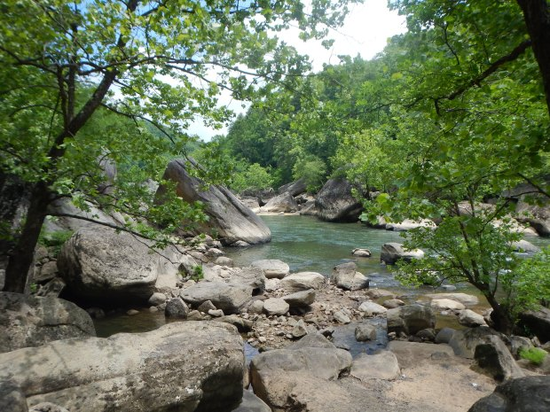 View of Cumberland River from Eagle Falls, Cumberland Falls State Park, Kentucky