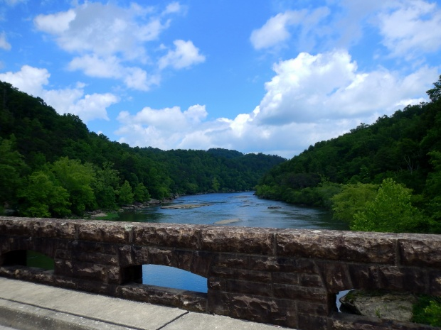 View from the bridge towards Cumberland Falls, Cumberland Falls State Park, Kentucky